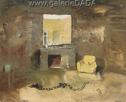 Ignacio Iturria, Sofa Amarillo Fine Art Reproduction Oil Painting