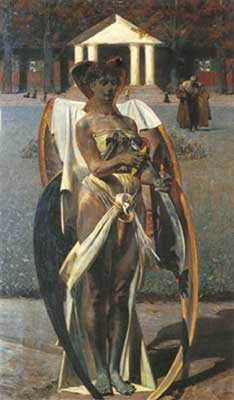 Jacek Malczewski, Thanatos Fine Art Reproduction Oil Painting
