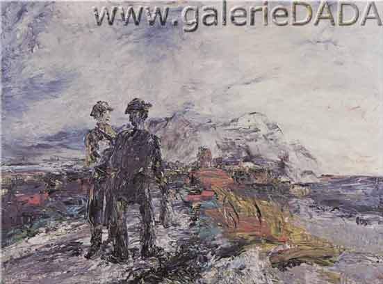 Jack Butler Yeats, The Two Travellers Fine Art Reproduction Oil Painting