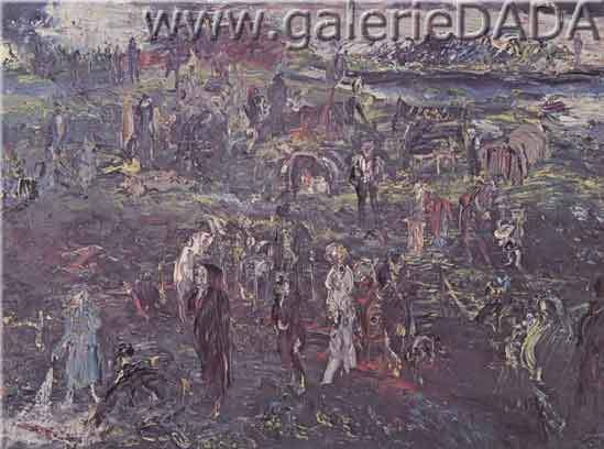 Jack Butler Yeats, Tinkers Encampment Fine Art Reproduction Oil Painting