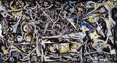 Jackson Pollock, Night Mist Fine Art Reproduction Oil Painting