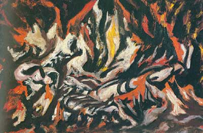 Jackson Pollock, The Flame Fine Art Reproduction Oil Painting