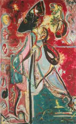 Jackson Pollock, The Moon-Woman Fine Art Reproduction Oil Painting