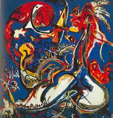 Jackson Pollock, The Moon-Woman Cuts the Circle Fine Art Reproduction Oil Painting