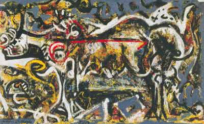 Jackson Pollock, The She-Wolf Fine Art Reproduction Oil Painting