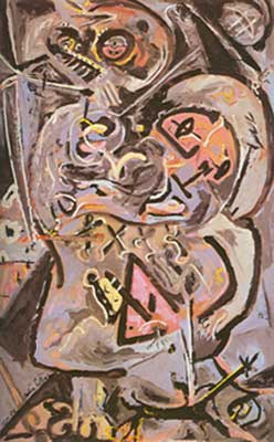 Jackson Pollock, Totem Lesson 1 Fine Art Reproduction Oil Painting