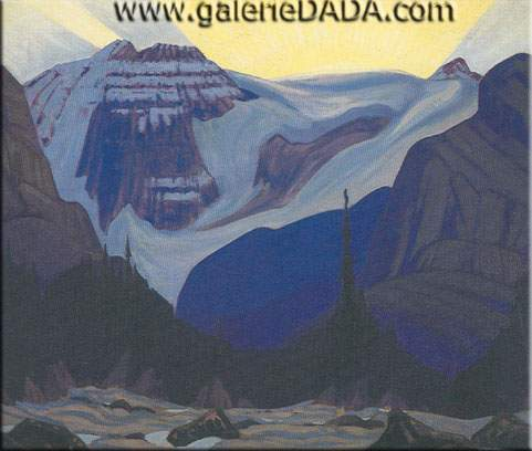 James E. H. MacDonald, Early Morning Rocky Mountains Fine Art Reproduction Oil Painting