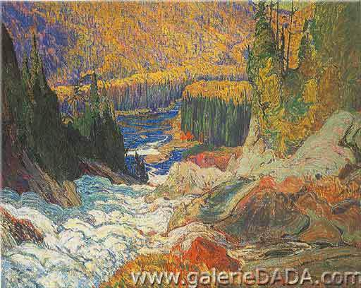 James E. H. MacDonald, Falls Montreal River Fine Art Reproduction Oil Painting