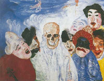 James Ensor, Death and the Masks Fine Art Reproduction Oil Painting