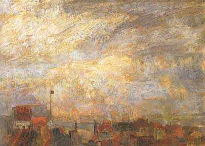 James Ensor, Rooftops of Ostend Fine Art Reproduction Oil Painting