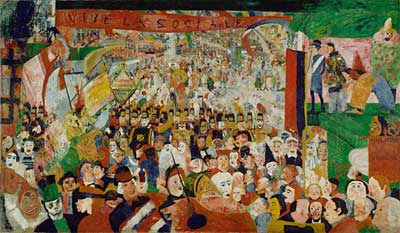James Ensor, The Entry of Christ into Brussels in 1889 Fine Art Reproduction Oil Painting