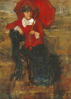 James Ensor, The Lady with the Red Parasol Fine Art Reproduction Oil Painting