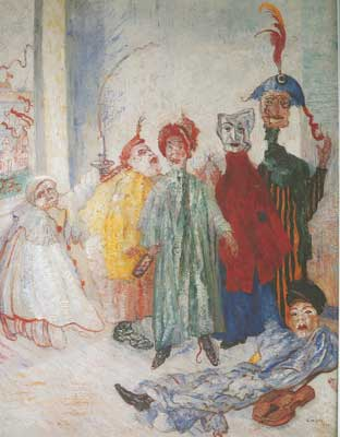 James Ensor, The Strange Masks Fine Art Reproduction Oil Painting