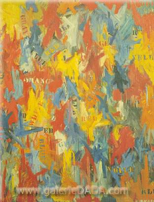 Jasper Johns, False Start Fine Art Reproduction Oil Painting