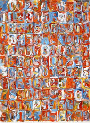 Jasper Johns, Numbers in Colour Fine Art Reproduction Oil Painting