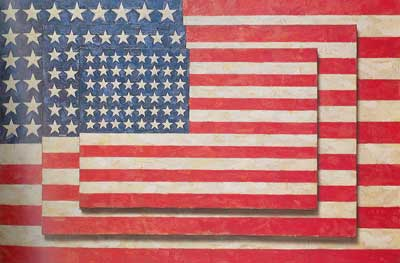 Jasper Johns, Three Flags Fine Art Reproduction Oil Painting