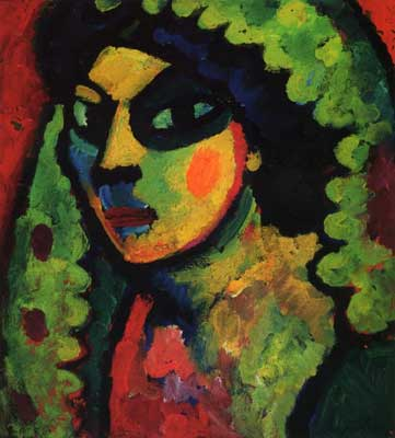 Alexei von Jawlensky,  Sicilain Woman with Green Shawl Fine Art Reproduction Oil Painting