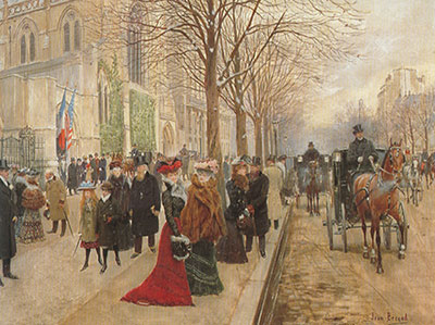 Jean Beraud, After the Church Service Fine Art Reproduction Oil Painting