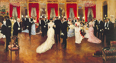 Jean Beraud, Une Soiree Fine Art Reproduction Oil Painting