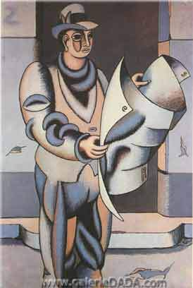 Jean Helion, The Blue Reader Fine Art Reproduction Oil Painting