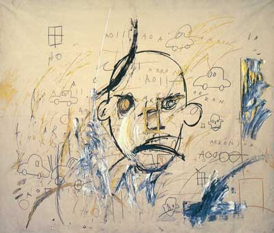 Jean-Michel Basquiat, Aaron 1 Fine Art Reproduction Oil Painting