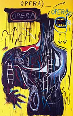 Jean-Michel Basquiat, Anybody Speaking Words Fine Art Reproduction Oil Painting