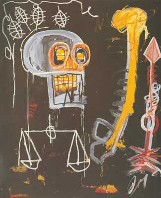 Jean-Michel Basquiat, Black Skull Fine Art Reproduction Oil Painting
