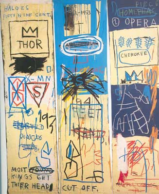 Jean-Michel Basquiat, Charles the First (3 panels) Fine Art Reproduction Oil Painting