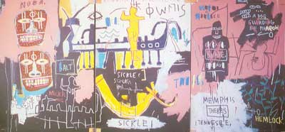 Jean-Michel Basquiat, History of Black People (3 panels) Fine Art Reproduction Oil Painting