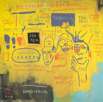 Jean-Michel Basquiat, Hollywood Africans Fine Art Reproduction Oil Painting