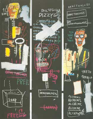 Jean-Michel Basquiat, Horn Players (3 Panels) Fine Art Reproduction Oil Painting