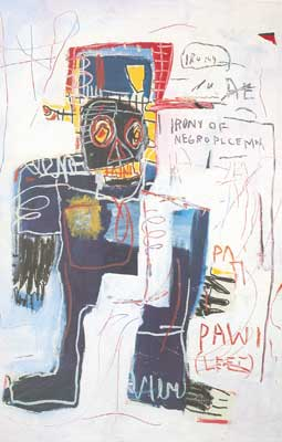 Jean-Michel Basquiat, Irony of a Negro Policeman Fine Art Reproduction Oil Painting