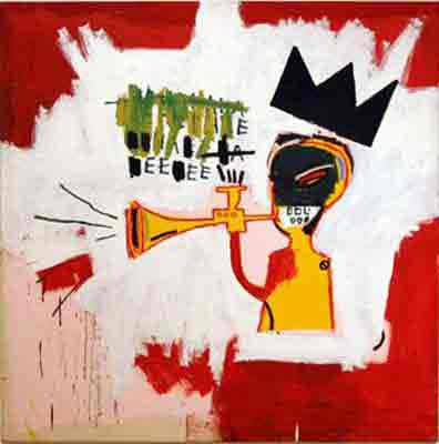 Jean-Michel Basquiat, Trumpet Fine Art Reproduction Oil Painting