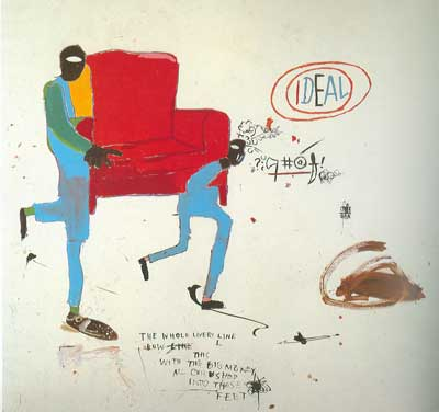 Jean-Michel Basquiat, Light Blue Movers Fine Art Reproduction Oil Painting