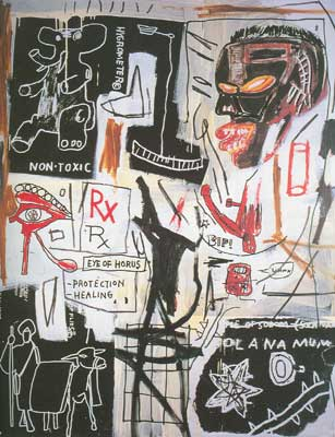Jean-Michel Basquiat, Melting Point of Ice Fine Art Reproduction Oil Painting