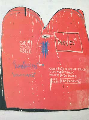 Jean-Michel Basquiat, Moses and the Egyptians Fine Art Reproduction Oil Painting