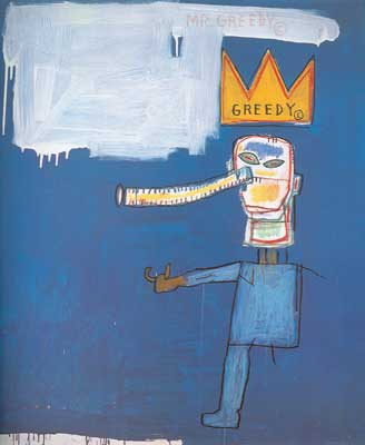 Jean-Michel Basquiat, Mr Greedy Fine Art Reproduction Oil Painting