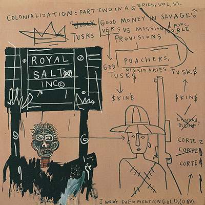 Jean-Michel Basquiat, Native Carrying Some Guns, Bibles, Amorites Fine Art Reproduction Oil Painting