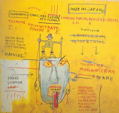 Jean-Michel Basquiat, Onion Gum Fine Art Reproduction Oil Painting
