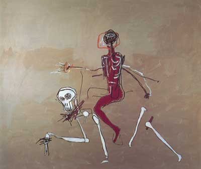 Jean-Michel Basquiat, Riding with Death Fine Art Reproduction Oil Painting