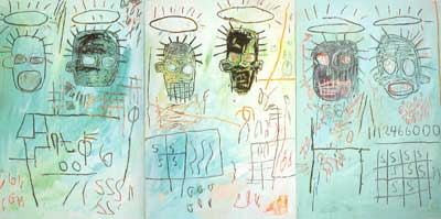 Jean-Michel Basquiat, Six Cremee (3 panels) Fine Art Reproduction Oil Painting