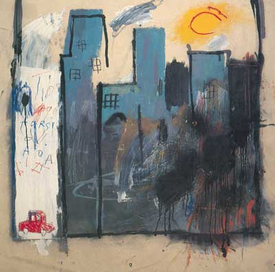 Jean-Michel Basquiat, Unititled (Buildings) Fine Art Reproduction Oil Painting