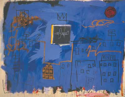 Jean-Michel Basquiat, Unititled (Blue) Fine Art Reproduction Oil Painting