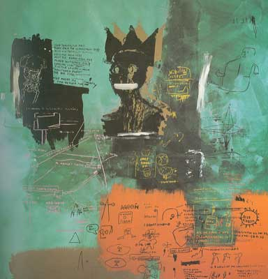 Jean-Michel Basquiat, Unititled (Queen Green) Fine Art Reproduction Oil Painting
