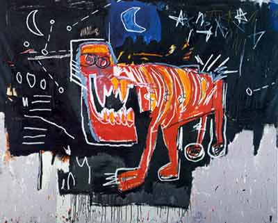 Jean-Michel Basquiat, Untitled (Red Dog) Fine Art Reproduction Oil Painting
