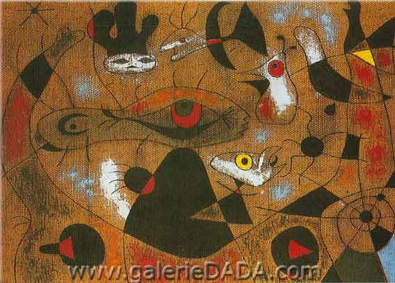 Joan Miro, A Dew Drop Falling Fine Art Reproduction Oil Painting