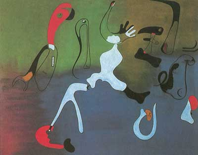 Joan Miro, Composition Fine Art Reproduction Oil Painting