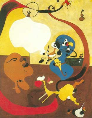 Joan Miro, Dutch Interior II Fine Art Reproduction Oil Painting