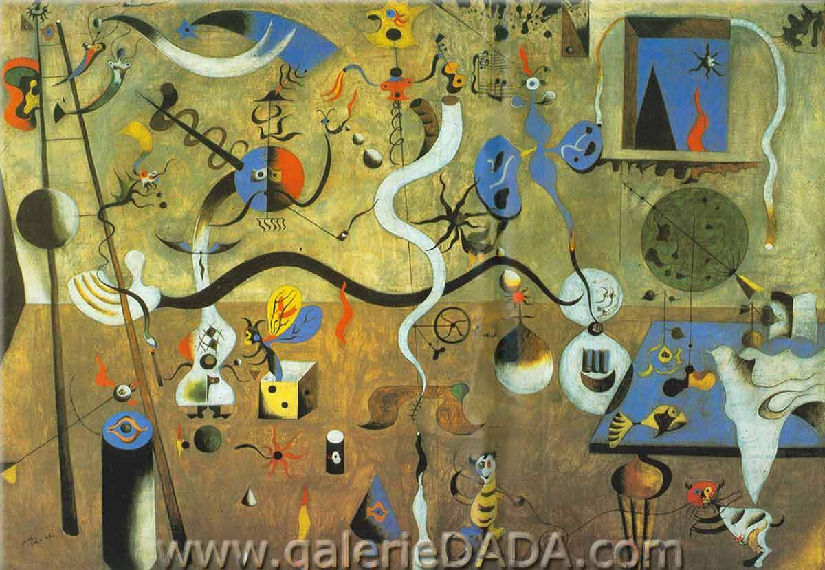 Joan Miro, Harlequins Carnival Fine Art Reproduction Oil Painting