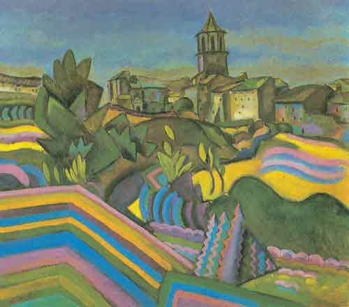 Joan Miro, Prades the Village Fine Art Reproduction Oil Painting